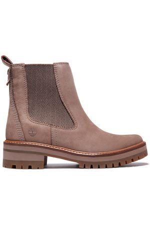 Timberland Courmayeur chelsea boot for women in beige taupe, size 3.5