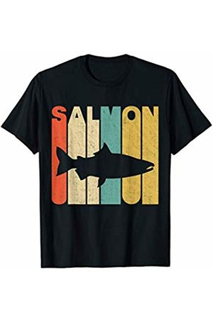 Classic Vintage Retro T-Shirts Vintage Retro Salmon Silhouette T-Shirt