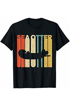 Classic Vintage Retro T-Shirts Vintage Retro Sea Otter Silhouette T-Shirt
