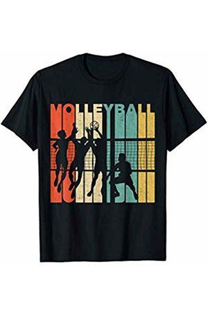 Classic Vintage Retro T-Shirts Vintage Retro Volleyball Silhouette T-Shirt