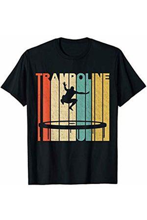 Classic Vintage Retro T-Shirts Vintage Retro Trampoline Silhouette T-Shirt