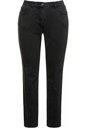 Ulla Popken Women's Jeans 5 Pocket, Sammy Slim