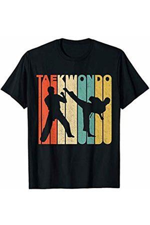 Classic Vintage Retro T-Shirts Vintage Retro Taekwondo Silhouette T-Shirt