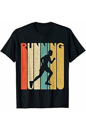 Classic Vintage Retro T-Shirts Vintage Retro Running Silhouette T-Shirt