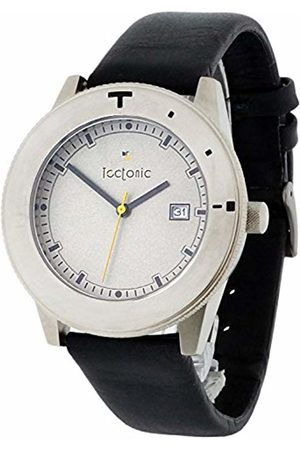 Tectonic Men Watches - Men's Quartz Watch with Dial Analogue Display and Leather Strap 41-6106-84
