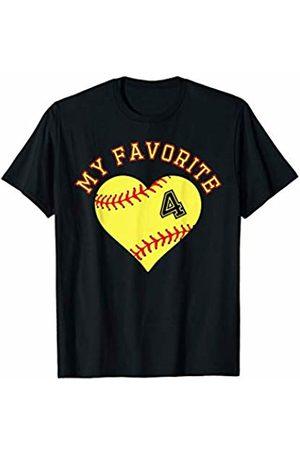 Softball Player My Favorite Star Fan Shirt Gifts Softball Player 4 Jersey Outfit No #4 Sports Fan Gift T-Shirt