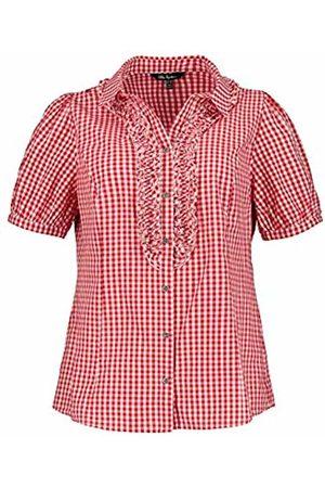 Ulla Popken Women's Trachtenbluse Mit Hemdkragen Rüschen Trachtenblusen