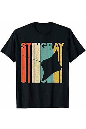 Classic Vintage Retro T-Shirts Vintage Retro Stingray Silhouette T-Shirt