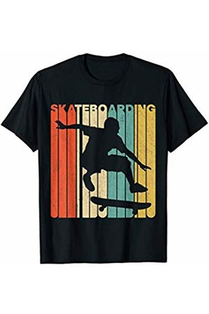 Classic Vintage Retro T-Shirts Vintage Retro Skateboarding Silhouette T-Shirt