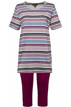 Ulla Popken Women's Pyjama, Streifen Bunt Set