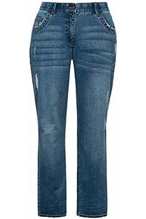Ulla Popken Women's Jeans Mit Leichter Waschung, Boyfriend