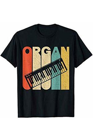 Classic Vintage Retro T-Shirts Vintage Retro Organ Silhouette T-Shirt