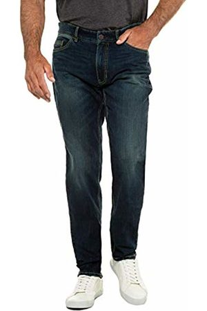 JP 1880 Men's Jeans, Bauchfit, Dirty Dye, Tapered Loose Fit - Große Größen (Dark Denim 93)