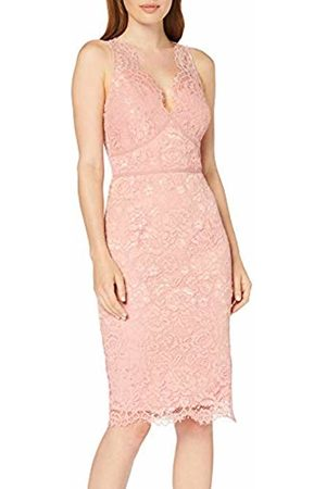 Little Mistress Women's Eloise Rose Lace Bodycon Dress Party, 001