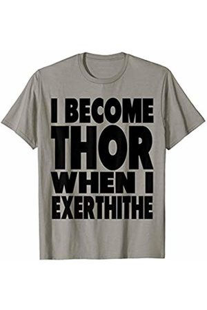 Tommy Tidal Wave: Funny Super Powers T shirts Cute Killer Workout Slogan: I Become Thor - silly T shirt