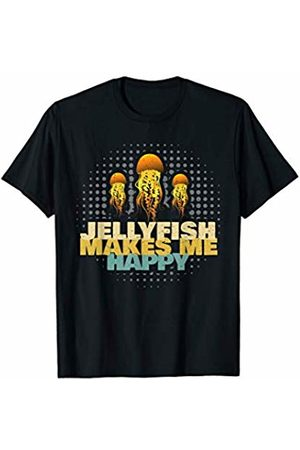 Funny Vacation Jellyfish Gift Ideas Kids Men Women Beach Jellyfishes Make Me Happy Art Dress Gift Jellyfish T-Shirt