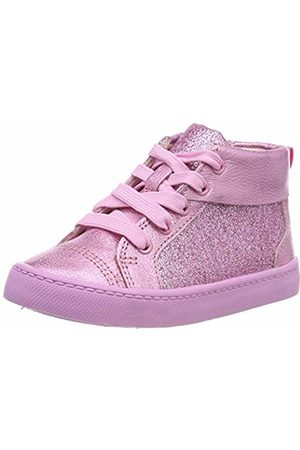 Clarks Girls' City Oasis Ht Hi-Top Trainers, Sparkle