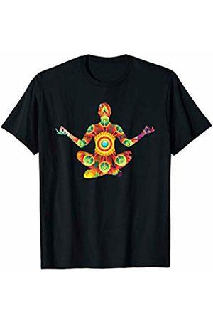 Yoga Chic Shirts Men T-shirts - Yoga Asana Floral Mandala Meditation Tee T-Shirt