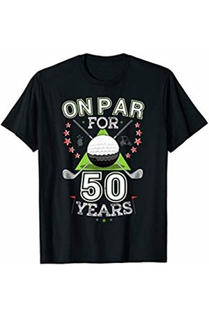 Birthday Golf Tee Shirts Funny 50th Birthday Golfer T-Shirt On Par For 50 Years Golf