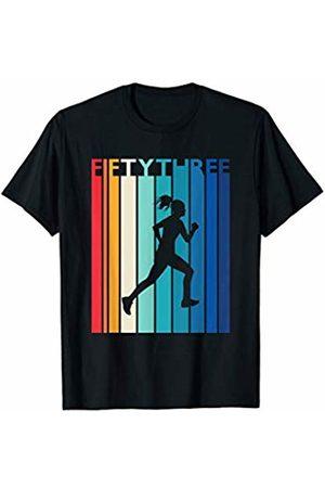 Shirtbooth: Running Birthday Shirts 53rd Birthday Gift Vintage Running Shirt for 53 Year Old T-Shirt