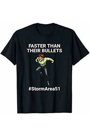 StormArea51 Storm Area 51 'Faster Than Their Bullets' Man Running Fast T-Shirt