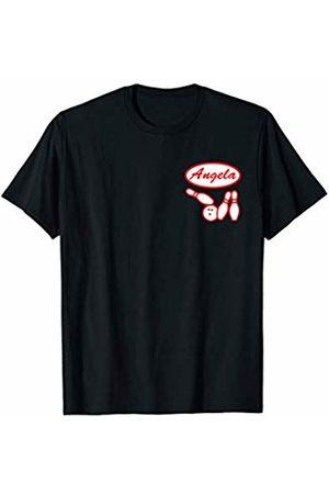 Alleywise Streetwear Bowling Name Tag Shirt Angela Team League Gift