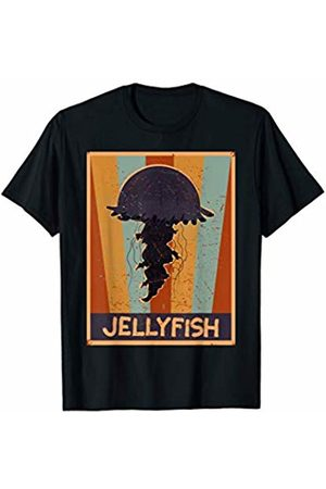 Funny Vacation Jellyfish Gift Ideas Kids Men Women Beach 70s Retro Jellyfishes Art Dress Gift Vintage Jellyfish T-Shirt