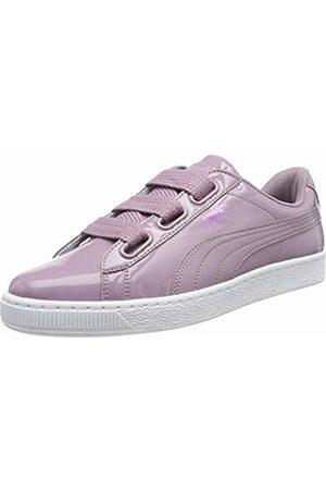 Puma Women's Basket Heart Patent WN's Low-Top Sneakers, Elderberry