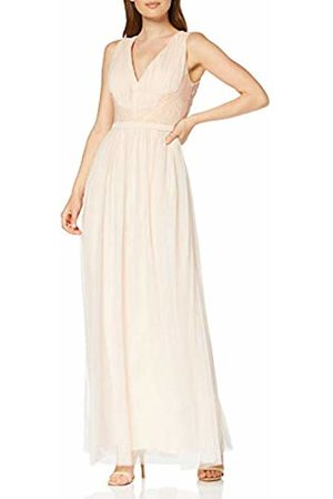 Little Mistress Women's Bea Nude Lace-Trim Maxi Dress Party, 001