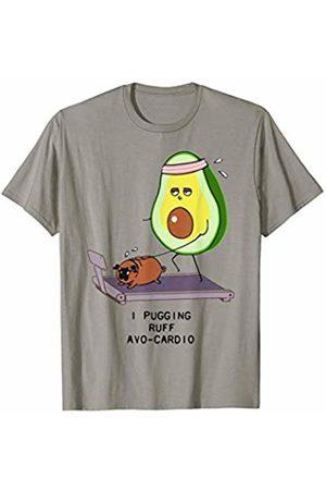 Dibba Designs Avo-Cardio Avocado Treadmill Run Dog Puppy Lover Gym Workout T-Shirt
