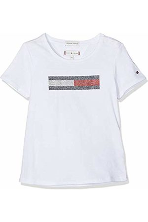 Tommy Hilfiger Baby Girls' Lurex Flag Embroidery Tee S/s T-Shirt, Bright 123