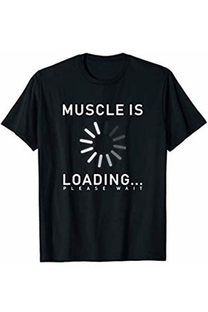 Muscle Lovers Men T-shirts - Muscle is loading gym graphic cool t-shirt T-Shirt