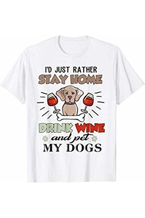 87a994437983 I Love My Dogs I'd Just Rather Stay Home Drink Wine And Pet My ... mimi cat  t shirt ...