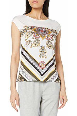 Comma, Women's 81.907.32.3431 T-Shirt, Placed Foulard 81e0