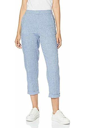 MERAKI Women's Linen Blend Chambray Cropped Trousers