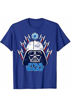 STAR WARS Vader Helmet With TIE Fighters Graphic T-Shirt