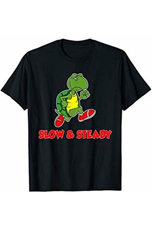 Slow And Steady Runner Tees Slow And Steady Runner Funny Running Cartoon Turtle T-Shirt