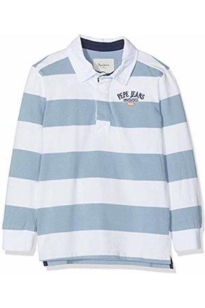 Pepe Jeans Boy's Calvin Pb540505 Polo Shirt, (Optic 802)