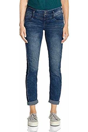 Street one Women's 372412 Jane Casual Fit Slim Jeans, Heavy Acid Wash 11939