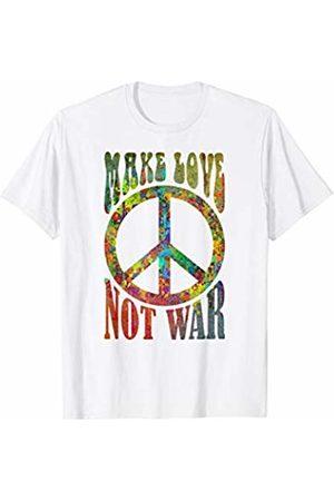 EDDArt 60s 70s Retro Flower Power - Make Love Not War 2 Fun T-Shirt