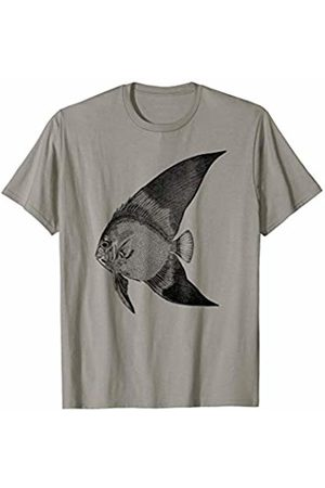 The New Antique Vintage Angelfish Print T-Shirt