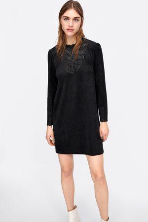 Zara Suede effect dress