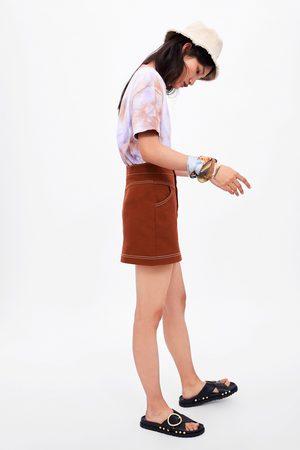 Zara Seamed mini skirt