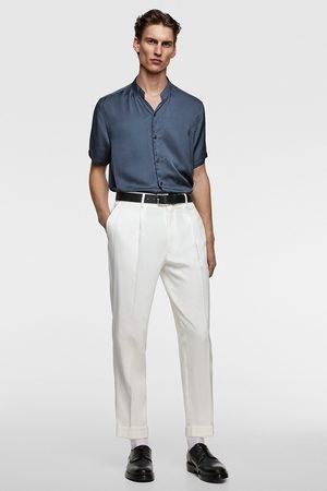 Zara Loose fit stand-up collar shirt
