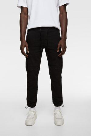 Zara Soft denim cargo trousers