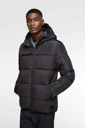 Zara Puffer jacket with double hood