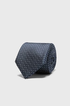 Zara Diamond jacquard wide tie