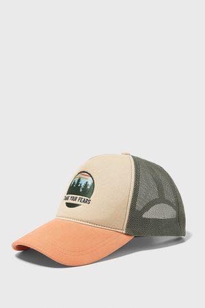 Zara Men Caps - Combined cap with mesh