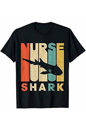 Classic Vintage Retro T-Shirts T-shirts - Vintage Retro Nurse Shark Silhouette T-Shirt