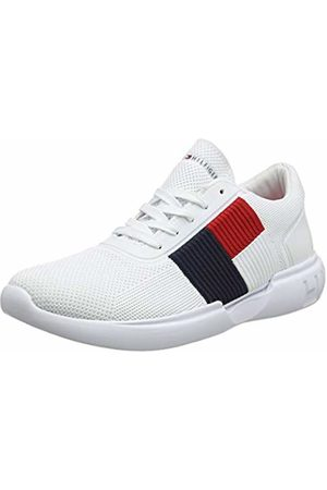 Tommy Hilfiger Men's Lightweight Runner Flag Knit Low-Top Sneakers, ( 100)